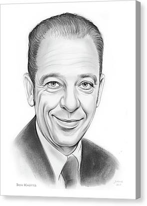 Griffith Canvas Print - Don Knotts by Greg Joens