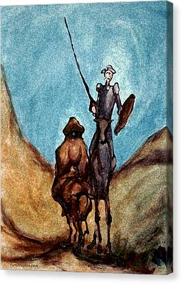 Don Quixote  Canvas Print by Kevin Middleton