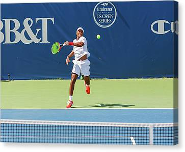 Atp World Tour Canvas Print - Donald Young Plays In The Winston-salem Open. by Bryan Pollard