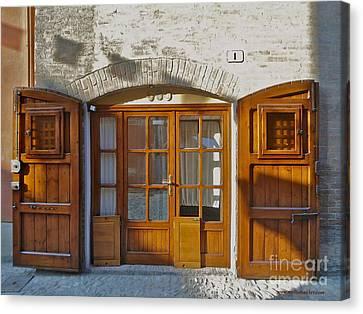 Door In Brisighella, Italy Canvas Print by Italian Art