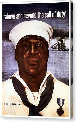 Navy Canvas Print - Dorie Miller - Above And Beyond by War Is Hell Store