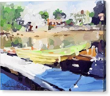 Dories At Beacon Marine Basin Canvas Print by Melissa Abbott