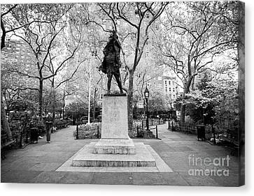 Doughboy Canvas Print - doughboy statue in abingdon square park greenwich village New York City USA by Joe Fox