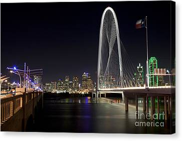 Downtown Dallas, Texas At Night Canvas Print