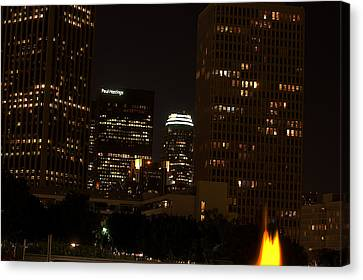 Clayton Canvas Print - Downtown L.a. In Hdr by Clayton Bruster