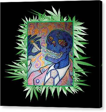 Dr. Smokey 420 Remix Canvas Print by Jordan Kotter
