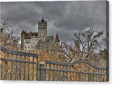 Canvas Print featuring the photograph Dracula's Castle Transilvania In Hdr by Matthew Bamberg