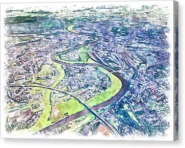 Dresden Germany Canvas Print by Marjan Mencin
