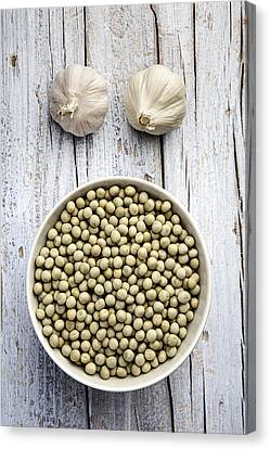 Dried Peas Canvas Print by Nailia Schwarz