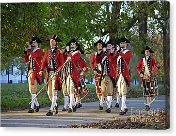 Drum And Fife On Palace Green, Colonial Williamsburg Virginia Canvas Print