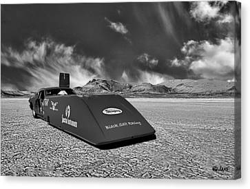 Dry Lake Hot Rod Racecar Canvas Print by Jake Steele