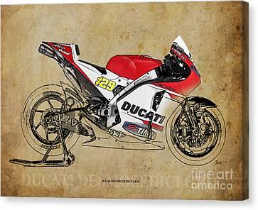 Ducati Desmosedici Gp15 Canvas Print by Pablo Franchi