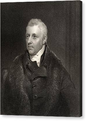 Dudley Ryder 1st Earl Of Harrowby 1762 Canvas Print by Vintage Design Pics