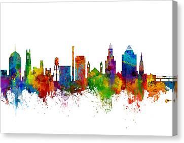 Durham North Carolina Skyline Canvas Print