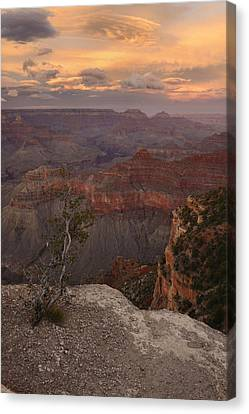 Canvas Print featuring the photograph Dusk From Mather Point by Stephen  Vecchiotti