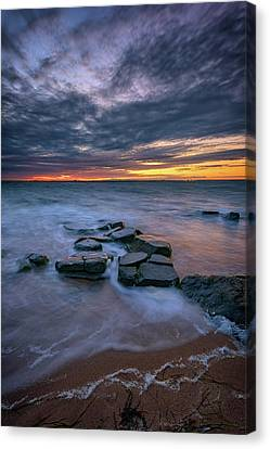 Dusk On Fire Island Canvas Print by Rick Berk