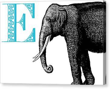 E Elephant Canvas Print by Thomas Paul