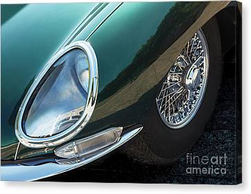 Canvas Print featuring the photograph E-type by Dennis Hedberg