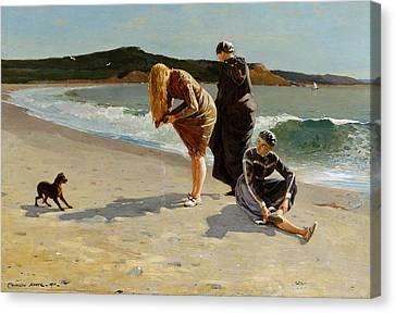 Eagle Head, Manchester, Massachusetts  High Tide Canvas Print by Winslow Homer