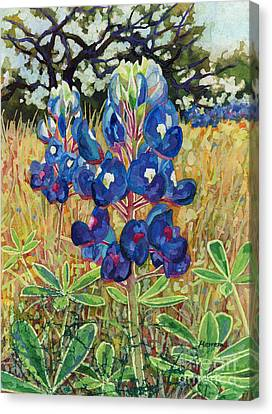 Canvas Print featuring the painting Early Bloomers by Hailey E Herrera