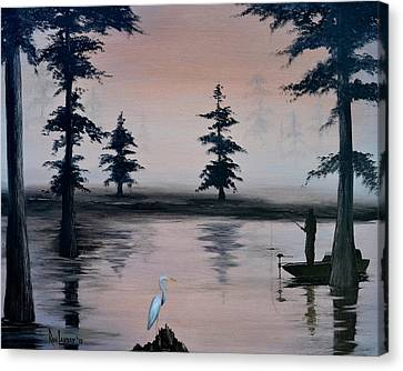 Early Morning Catch - Atchafalaya Basin Canvas Print by Ron Landry