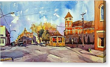 Early Morning Downtown Fairfield Canvas Print by Spencer Meagher
