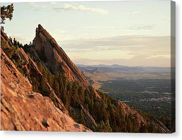 Early Morning Flatirons Canvas Print