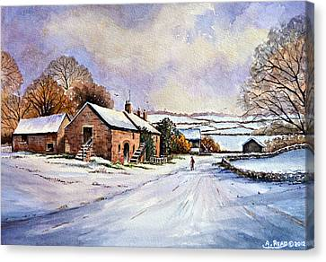 Snow Scene Canvas Print - Early Morning Snow by Andrew Read