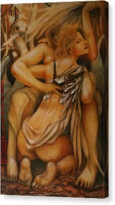 Earthbound Lies Canvas Print by Ralph Nixon Jr
