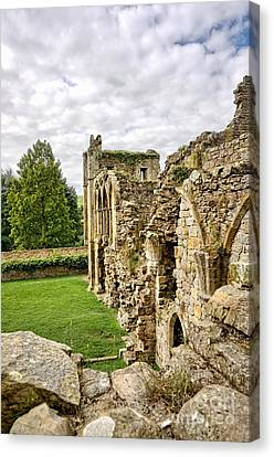 Easby Abbey Canvas Print by Nichola Denny