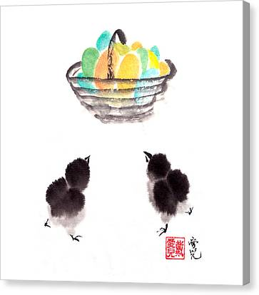 Easter Chicks Canvas Print by Oiyee At Oystudio