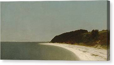 Eaton's Neck, Long Island Canvas Print by John Frederick Kensett