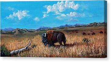 Edge Of The Herd Canvas Print by Julie Townsend
