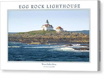 Egg Rock Island Lighthouse Canvas Print by Peter Muzyka