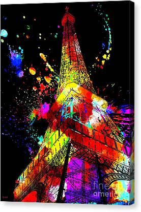 Eiffel Tower Grunge Canvas Print