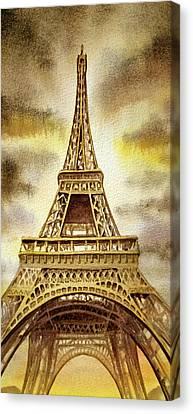 Eiffel Tower  Canvas Print by Irina Sztukowski