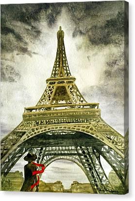 Eiffel Tower Paris Canvas Print by Irina Sztukowski
