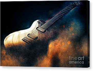 Electronic Canvas Print - Electric Guitar Art by Ian Mitchell