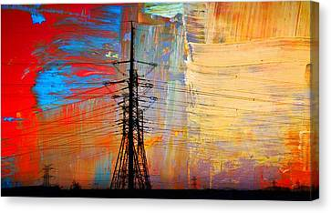 Electric Power Abstract... Canvas Print