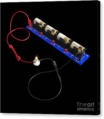 Electrical Circuit Canvas Print by Spl