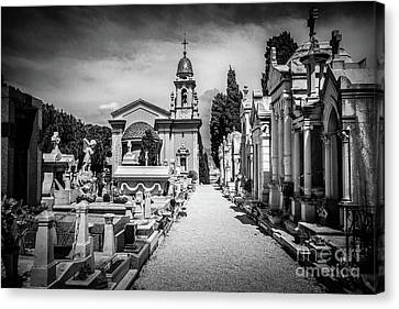 Rememberance Canvas Print - Elegant Gravesites On Castle Hill In Nice, France by Liesl Walsh