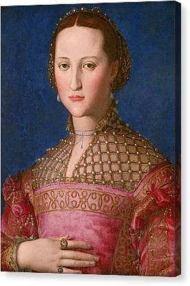 Portrait Of Woman Canvas Print - Eleonora Of Toledo by Agnolo Bronzino