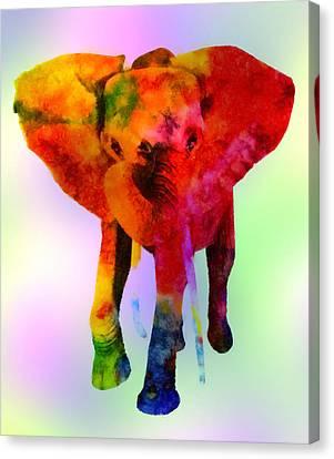 Beast Canvas Print - Elephant by Elena Kosvincheva