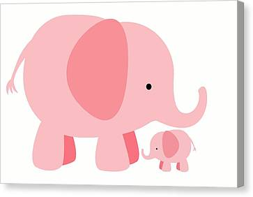 Elephant Love Canvas Print by Chastity Hoff