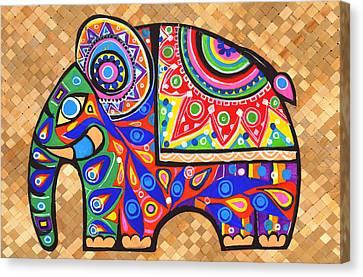 Elephant Canvas Print by Samadhi Rajakarunanayake