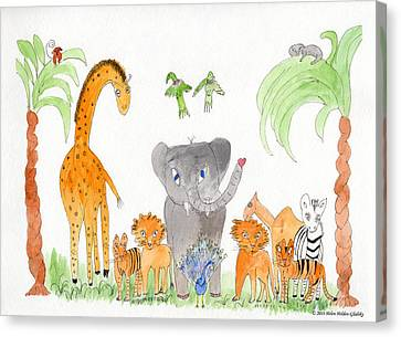 Elephoot And Friends 2 Canvas Print