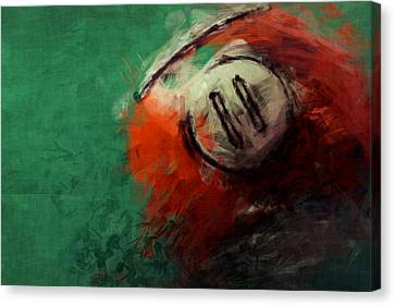Eleven Ball Billiards Abstract Canvas Print