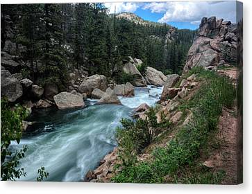 Eleven Mile Canyon Canvas Print by Larry Pacey