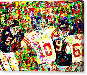 Eli Manning Canvas Print by Mike OBrien