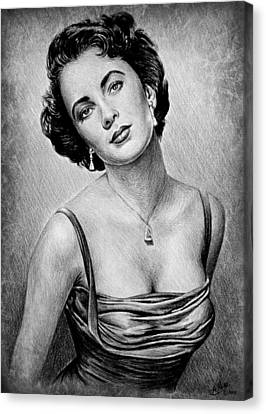 Elizabeth Taylor Canvas Print by Andrew Read